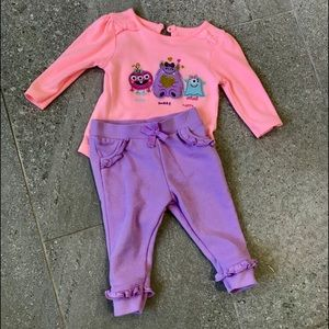 Happy Monster Toddler Girls 2 Piece Set